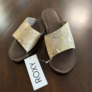🌊Roxy Helena Gold Snake Slide Sandals🌊